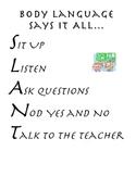 SLANT Poster for classroom management