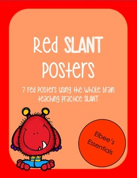 SLANT Red Posters