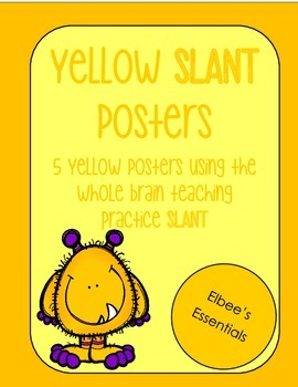 SLANT Yellow Posters