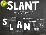 SLANT chalkboard posters