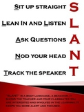 SLANT to be a good listener