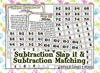 SLAP IT!! Addition, subtraction, and Multiplication math game bundle