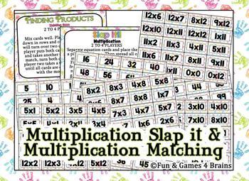 SLAP IT!! Addition, subtraction, and Multiplication math game bundle