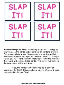SLAP IT! Antonyms