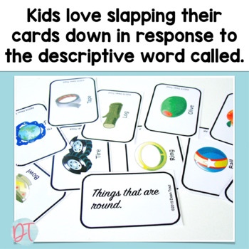 Vocabulary: SLAP IT Describing Card Game