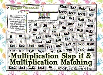 SLAP IT!! Single Digit Multiplication math game
