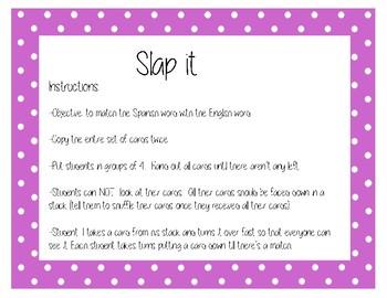 SLAP IT - Spanish ER verbs