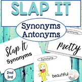 Grammar Activity for Speech Therapy SLAP IT Synonyms Antonyms Game
