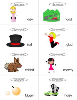 Synonym Antonym Games for Speech Therapy Slap It