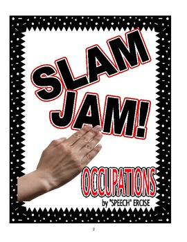 SPEECH THERAPY SLAP JACK! OCCUPATIONS