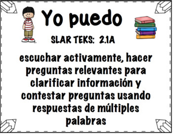 SLAR TEKS 2nd Grade Editable English & Spanish