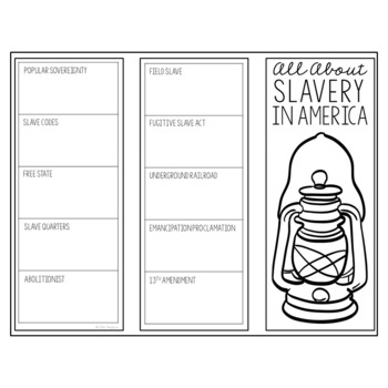 SLAVERY IN AMERICA Research Brochure Template, American History Project