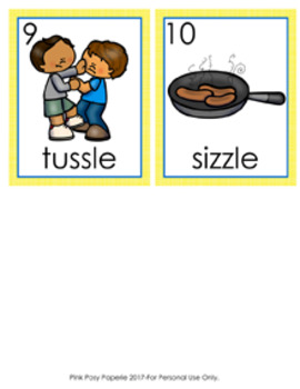 SLE and ZLE Final Stable Syllable Words Write the Room