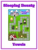 SLEEPING BEAUTY Vowels- ELA First Grade Folder Game - Word Work Center