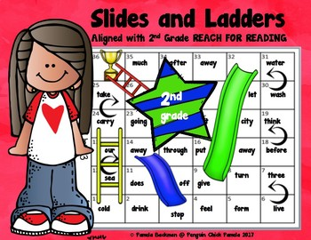 2nd Gr. SLIDES & LADDERS GAME - National Geographic REACH for READING Aligned