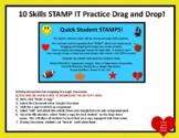 SLIDES STAMP IT! 10 Middle School Math Skills Practice Dra