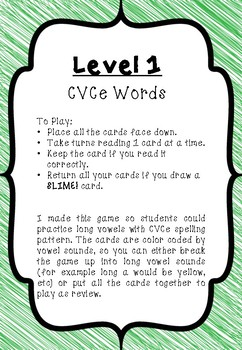 SLIME! Long Vowel CVCe (Magic e & Silent e) Reading & Phonics Game