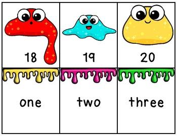 SLIME Math: Kindergarten Math Center Number Words