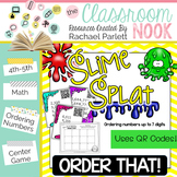 SLIME SPLAT:  Order That! {Ordering Numbers} With QR CODES!