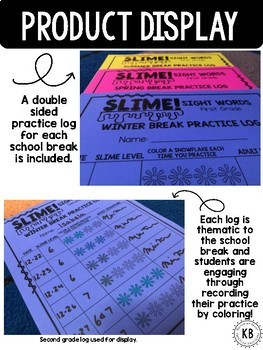 SLIME! Sight Words: First Grade Letters & Logs
