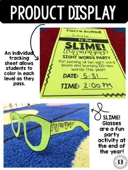SLIME! Sight Words: Kindergarten Year Long Program (Fry's Words)