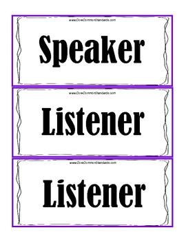 SL.K.1 Kindergarten Common Core Worksheets, Activity, and Poster