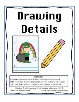 SL.K.5 Kindergarten Common Core Worksheets, Activity, and Poster