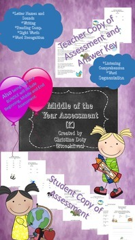 SLO ELA Assessment Kindergarten Middle of the Year