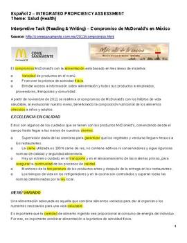 SLO - IPA Spanish 2 Tema Salud