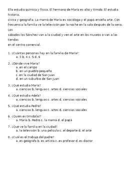 SLO Spanish 2 IPA - Familia y Comunidad