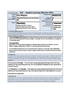 SLO (Student Learning Objective Sample) for Teacher Evaluation 2015   73-PAGES
