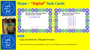 """SLOPE:  """"DIGITAL"""" BOOM CARDS (2 SETS,  40 TASK CARDS AND 24 TASK CARDS)"""