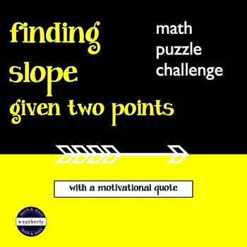 SLOPE - Given Two Points with a motivational quote