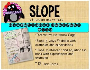 SLOPE INB Page, Foldable, Flip Book and 12 QR Code Task Cards