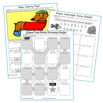 Slope Maze Riddle Amp Coloring Page Fun Math Activities