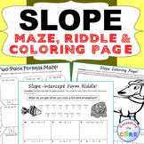 SLOPE Maze, Riddle, & Color by Number (Fun MATH Activities)