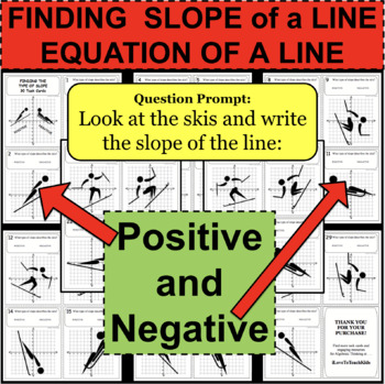 FINDING SLOPE OF A LINE Positive and Negative 30 Task Cards