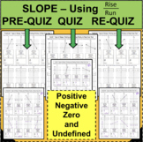 SLOPE QUIZZES Positive, Negative, Zero, and Undefined using RISE OVER RUN