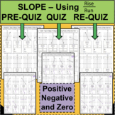 SLOPE QUIZZES Positive, Negative, and Zero using RISE OVER RUN LINEAR EQUATIONS