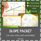 SLOPE: Rise Over Run and Point Slope Packet
