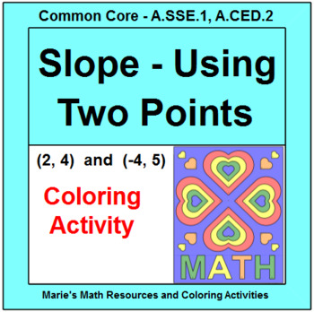 SLOPE:   SLOPE OF TWO POINTS COLORING ACTIVITY #4