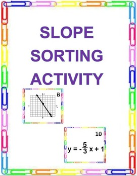 SLOPE SORTING ACTIVITY (8.EE.B.5)