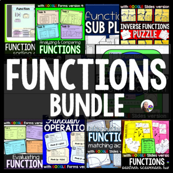 SLOPE and FUNCTIONS {w/ linear equations flippables bonus}