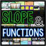 SLOPE and FUNCTIONS bundle with linear equations flippables bonus