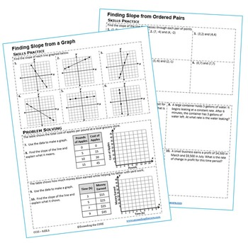 Y Intercept Homework Worksheets Skills Practice Word Problems