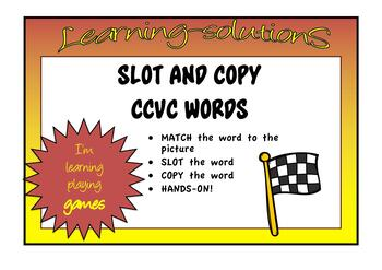 SLOT and COPY - CCVC Words - Hands-on Activity for CONSOLIDATION/INTERVENTION