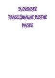 SLOVENSKE TRADICIONALNE PUSTNE MASKE (KARTICE)