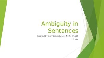 SLP Activity: Ambiguity in Sentences
