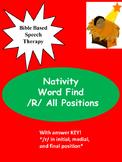 """SLP Artic """"R"""" activity (Nativity word find) *No Prep*"""