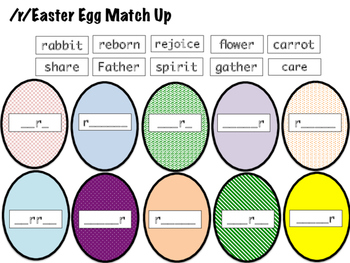 SLP Articulation Easter Egg Matchup and Memory Game